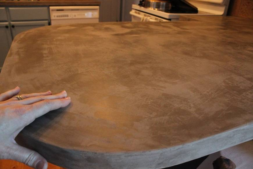 Бетонная столешница для кухни своими руками: инструкция и советы
