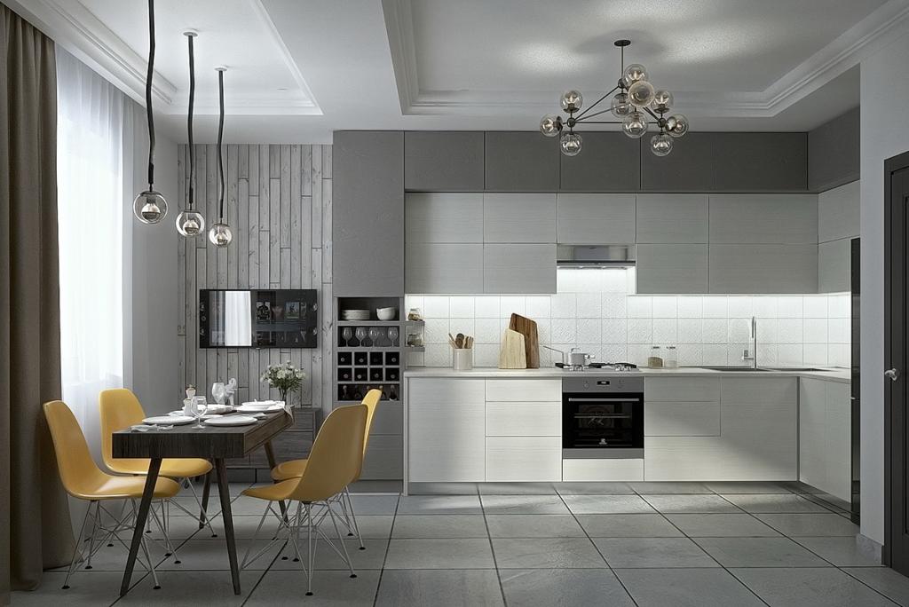 Дизайнерские решения для серой кухни + самые удачные цветовые сочетания