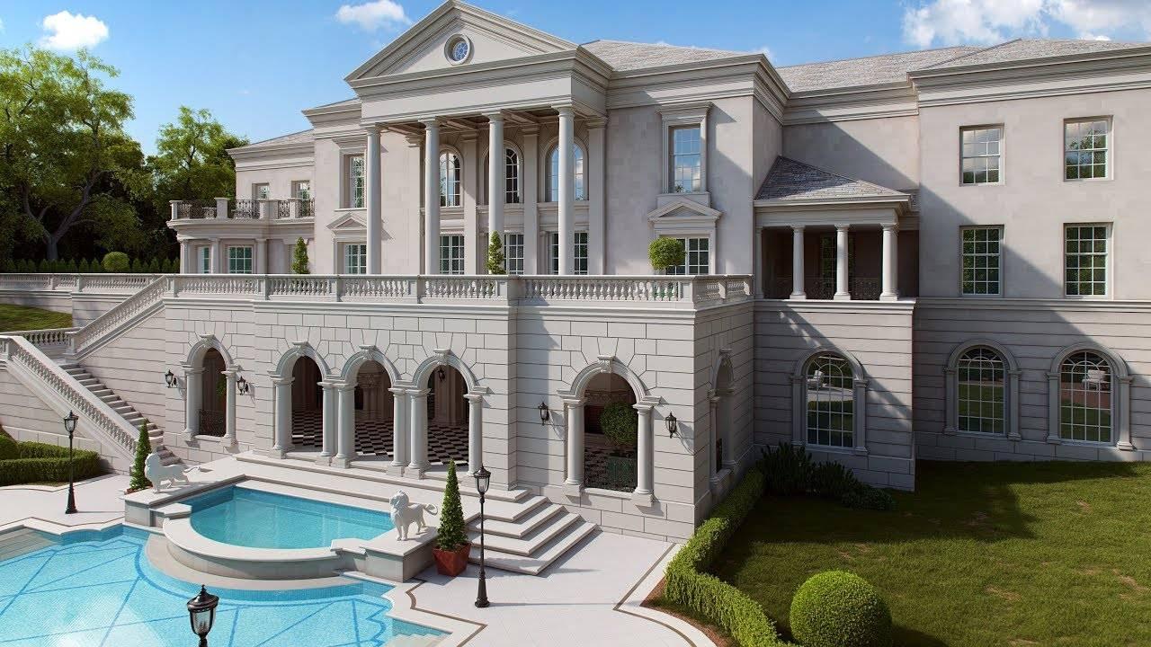 Проекты домов в классическом стиле (82 фото): интерьер загородного особняка с колоннами, дизайн одноэтажных частных строений, экстерьер коттеджей в «неоклассике»