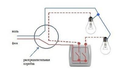 Схема подключения люстры на двухклавишный выключатель: инструкция по подключению