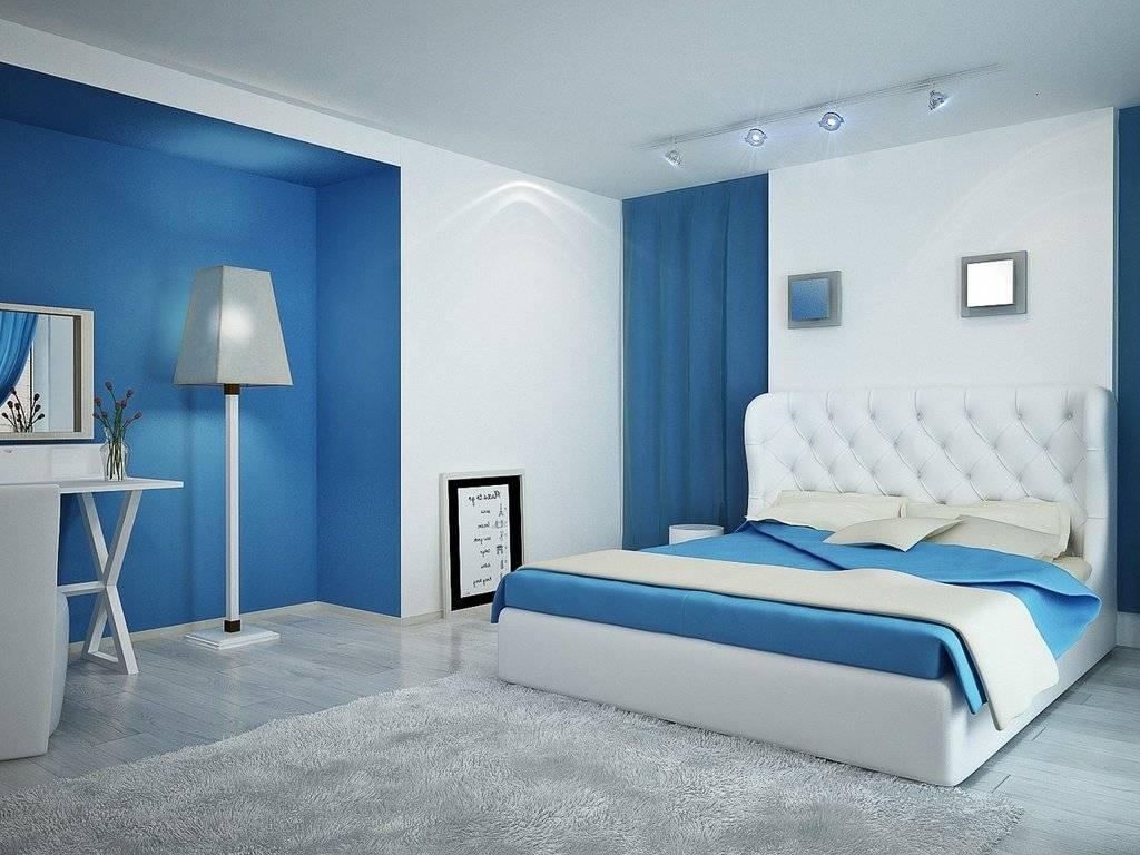 Спальня в голубых тонах – интерьер с новым настроением