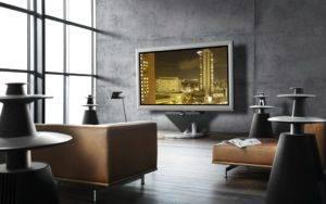 Телевизор на стене в интерьере (варианты размещения)