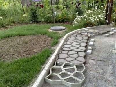 Садовая дорожка из спилов дерева - самоделкин друг