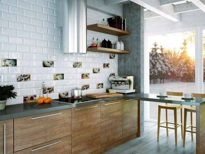 Требования по высоте фартука для кухни, какие стандартные размеры делать