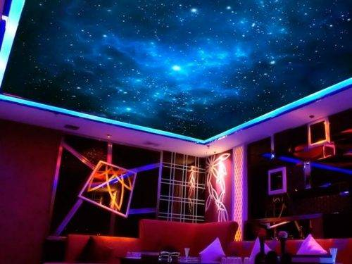 Натяжной потолок «звездное небо» (11 фото)