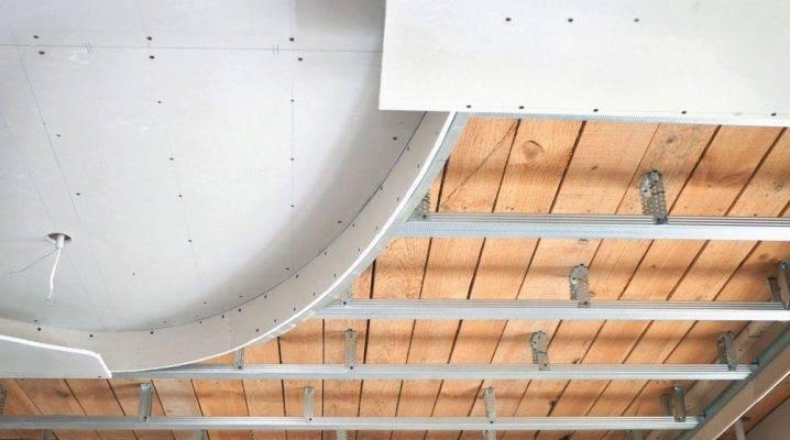 Одноуровневый потолок из гипсокартона своими руками: монтаж каркаса, крепление гипсокартона на потолок