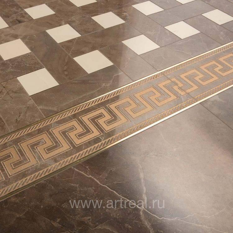 Бордюр для плитки (43 фото): варианты для керамического и кафельного покрытия, выбираем металлический и декоративный стеклянный бордюр