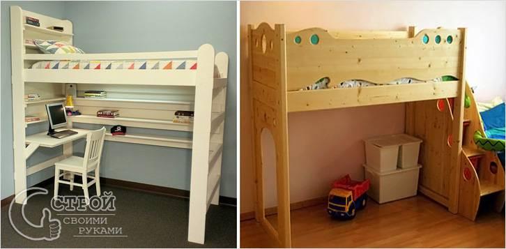 Как сделать двухъярусную кровать своими руками