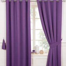 Фиолетовые шторы в современном интерьере - 125 нестандартных дизайнерских решений