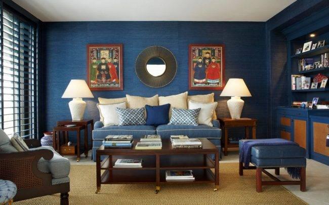 Спальня в голубых тонах: дизайн, 50+ фото в интерьере