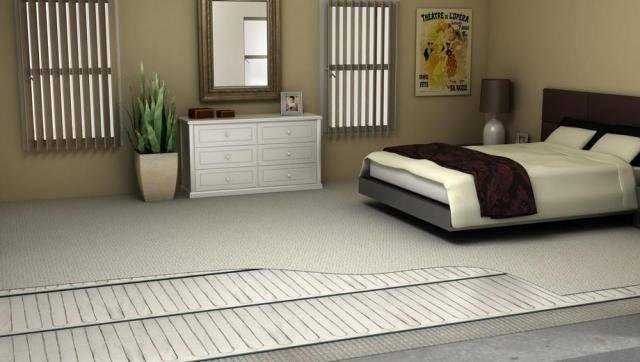 Как выбрать мобильный теплый пол: характеристики, под ковер или отдельный согревающий коврик