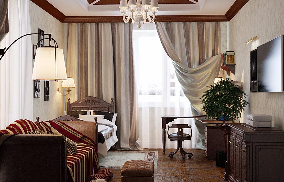 Дизайн мужской комнаты: интерьер спальни мужчины, стиль оформления помещения и цвет