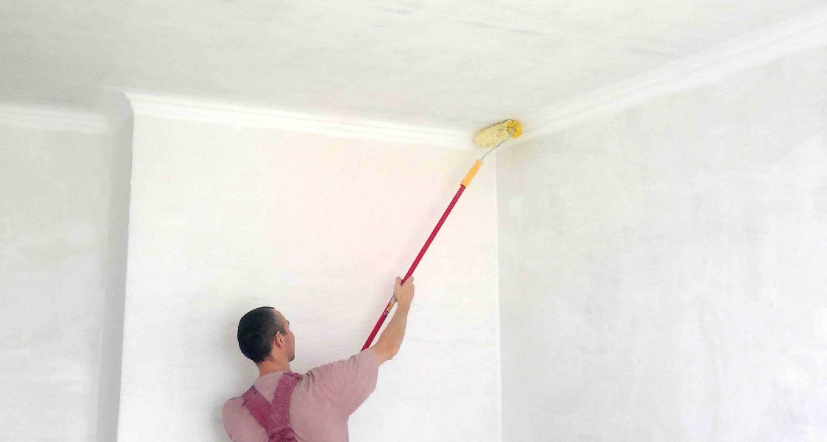 Какую краску лучше использовать для потолка