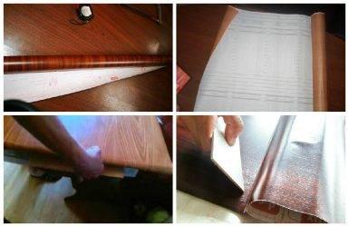 Как обклеить двери самоклеющейся пленкой своими руками: пошаговая инструкция