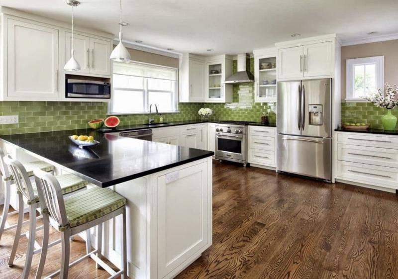 Дизайн кухни в частном доме + 125 фото новинок 2020 г.