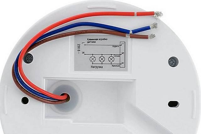 Схема: как подключить датчик движения к прожектору
