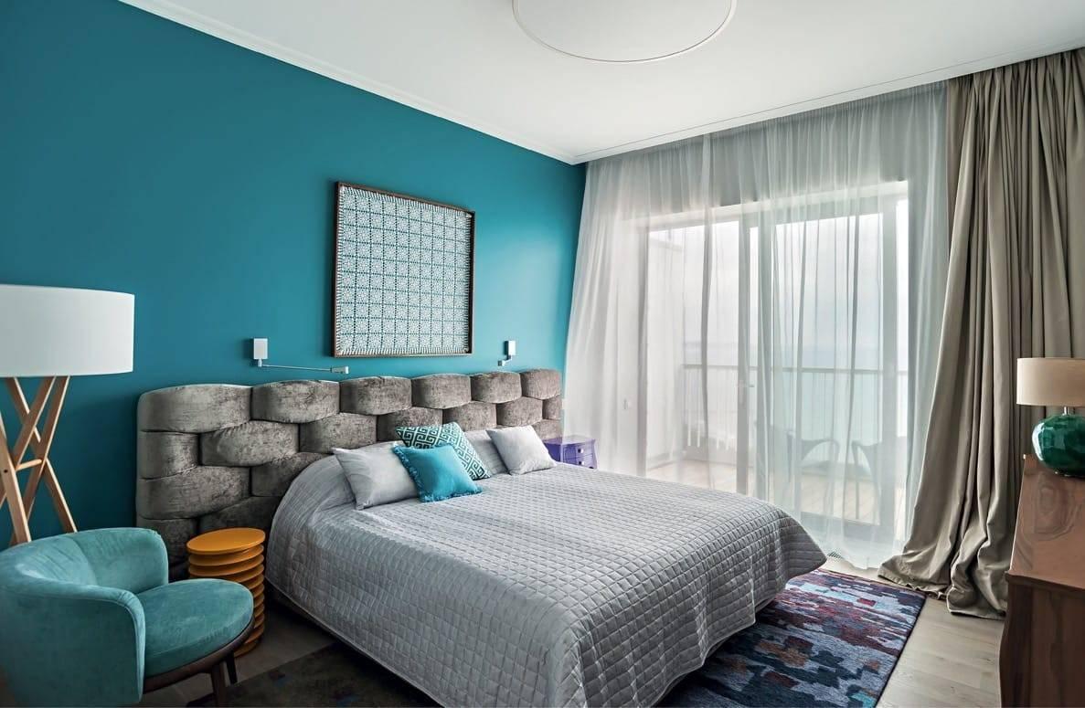 Бирюзовая спальня: топ-100 фото красивых идей в интерьере спальни