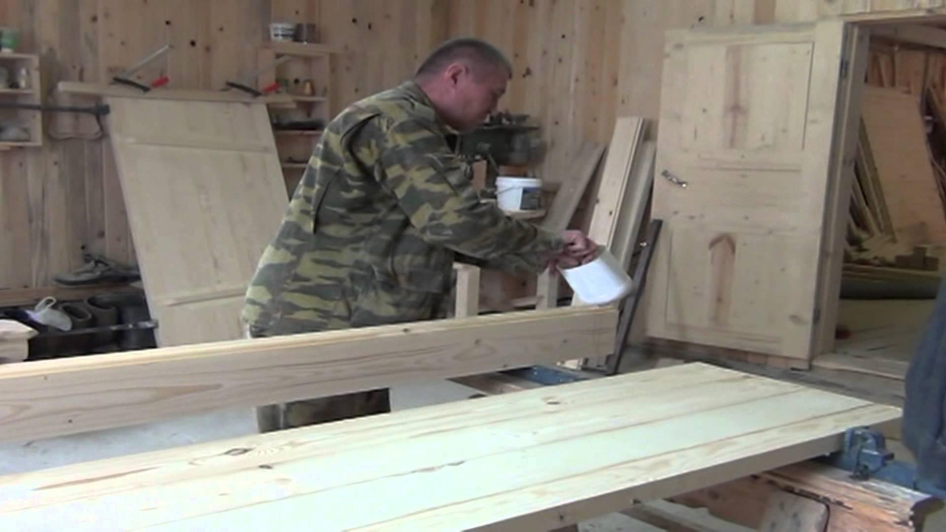 Деревянная дверь своими руками (34 фото): как сделать самому, изготовление из массива дерева