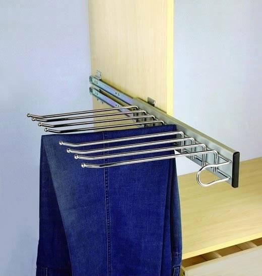 Брючница выдвижная для шкафа размеры