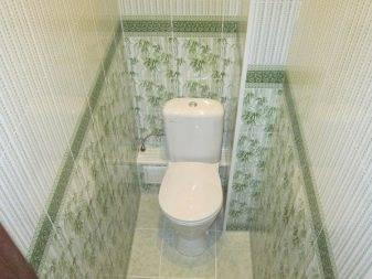 Отделка туалета пластиковыми панелями – дизайн и фото