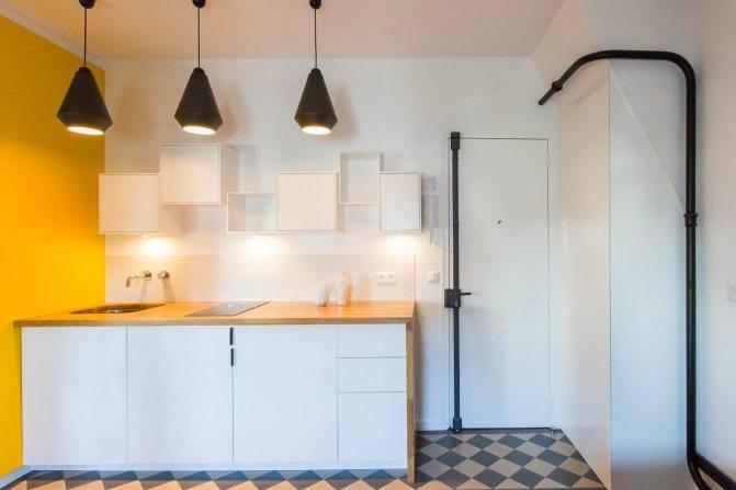 Как спрятать или задекорировать трубы на кухне при ремонте (газовые, вентиляционные, канализационные): советы и фото