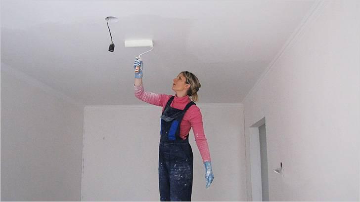 Побелка потолка в квартире или доме: как и чем лучше сделать отделку, инструкция, видео и фото