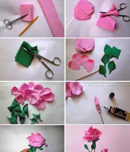 Цветы из фоамирана: мастер-класс для начинающих с пошаговыми фото