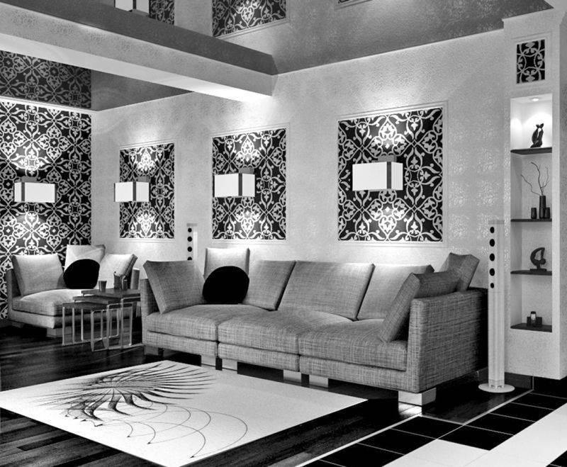 Гостиная в сером цвете: 55 реальных фото, идеи дизайна
