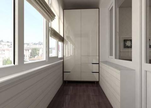 Практичное использование пространства балкона - фото примеров