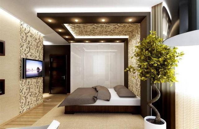 Навесные потолки для спальни: виды и варианты конструкций