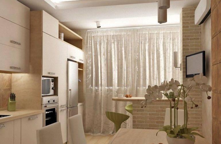 Дизайн кухни 8-12 кв.м. в квартире с балконом. топ-5 советов для объединение пространства + 100 фото