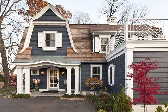 Покраска фасада дома: подбор цвета  + множество фото окрашенных зданий, сочетание таких цветов как белый, черный, желтый, матовый и т.д.