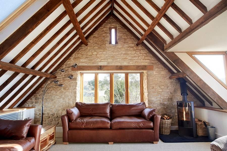 Комната на чердаке (77 фото): обустройство чердачных окон, дизайн жилого помещения, спальня под крышей