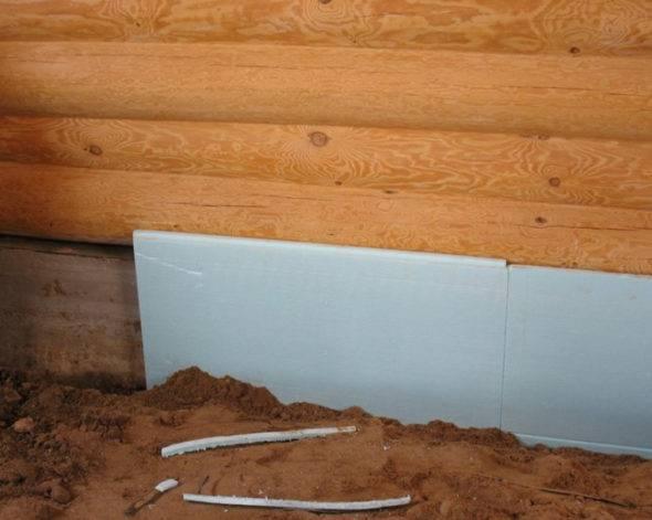 Способы утепления фундамента деревянного дома. видео