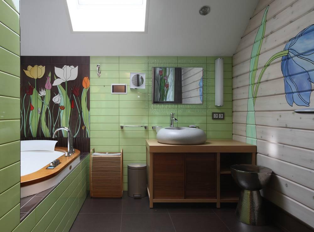 Дизайн ванной комнаты в частном доме: особенности, стили - 75 фото