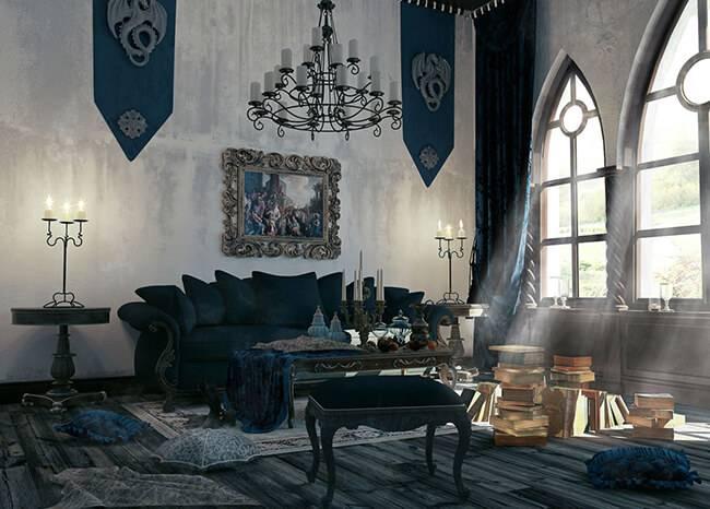 Викторианский стиль: готическая эпоха в интерьере и архитектуре дома и квартиры, узор обоев и мебели в период готики англии