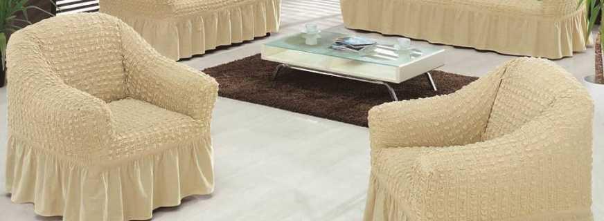 Выбираем турецкие чехлы на мягкую мебель: советы по видам, креплениям