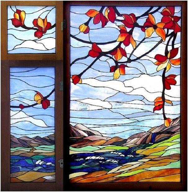 Роспись по стеклу витражными красками, как сделать самостоятельно