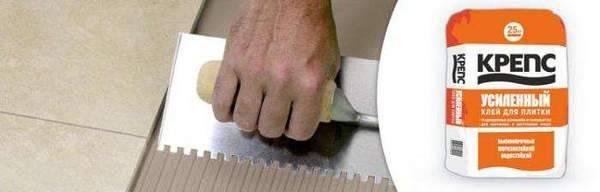 Клей для плитки крепс усиленный 25 кг – особенности, применение и отзывы