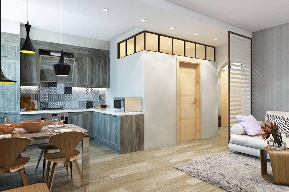 Перепланировка кухни-способы объединения с гостиной, коридором или лоджией