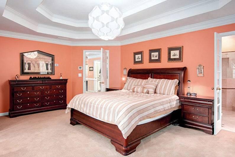 Персиковый цвет в сочетании с другими цветами в интерьере