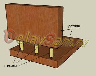 § 9. соединение деталей шкантами и шурупами в нагель