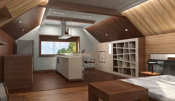 Стильный дизайн интерьера мансарды в частном доме