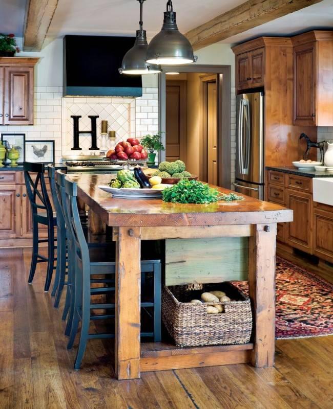 Деревенский стиль для интерьера кухни – вариант для дома или квартиры