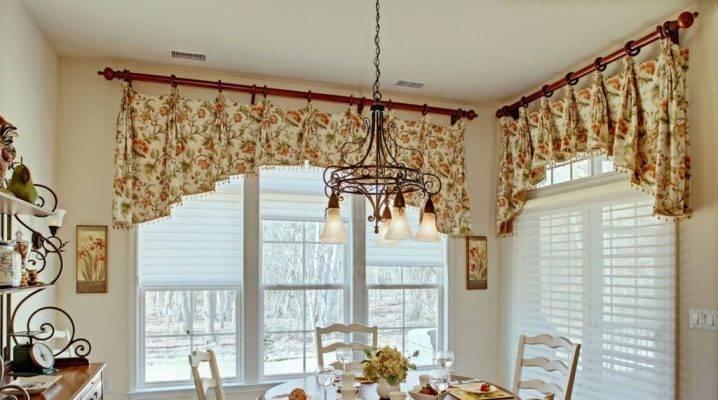 Длинные шторы на кухню: разновидности и рекомендации по выбору