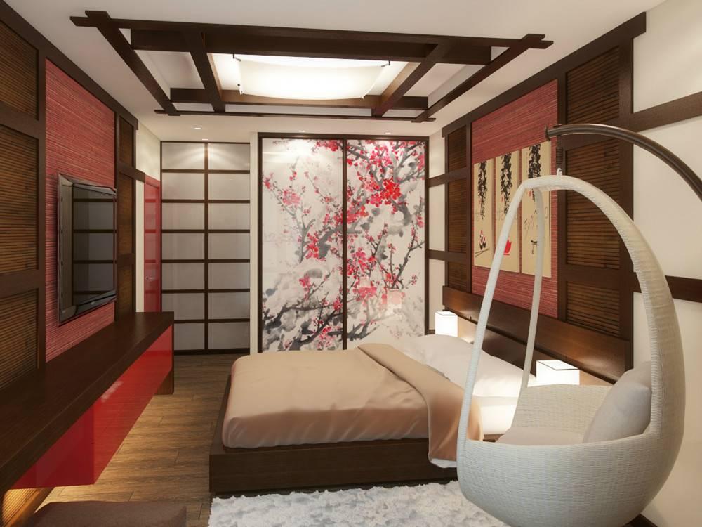 Дизайн комнаты в японском стиле: выбор обоев и кровати, дизайн спальни