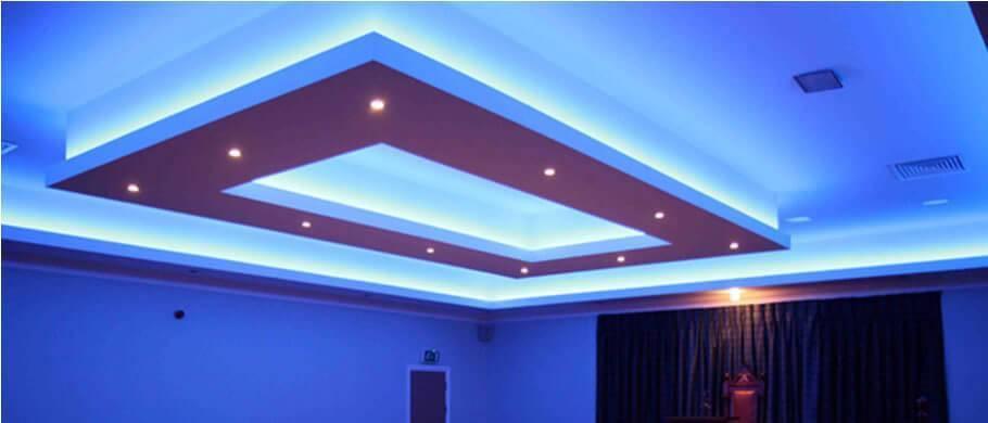 Как установить светодиодную ленту на потолок своими руками – пошаговое руководство