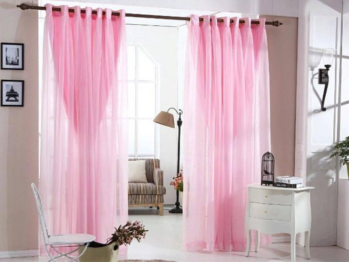 Розовые шторы: основные правила оформления помещения и разновидности портьер (121 фото)