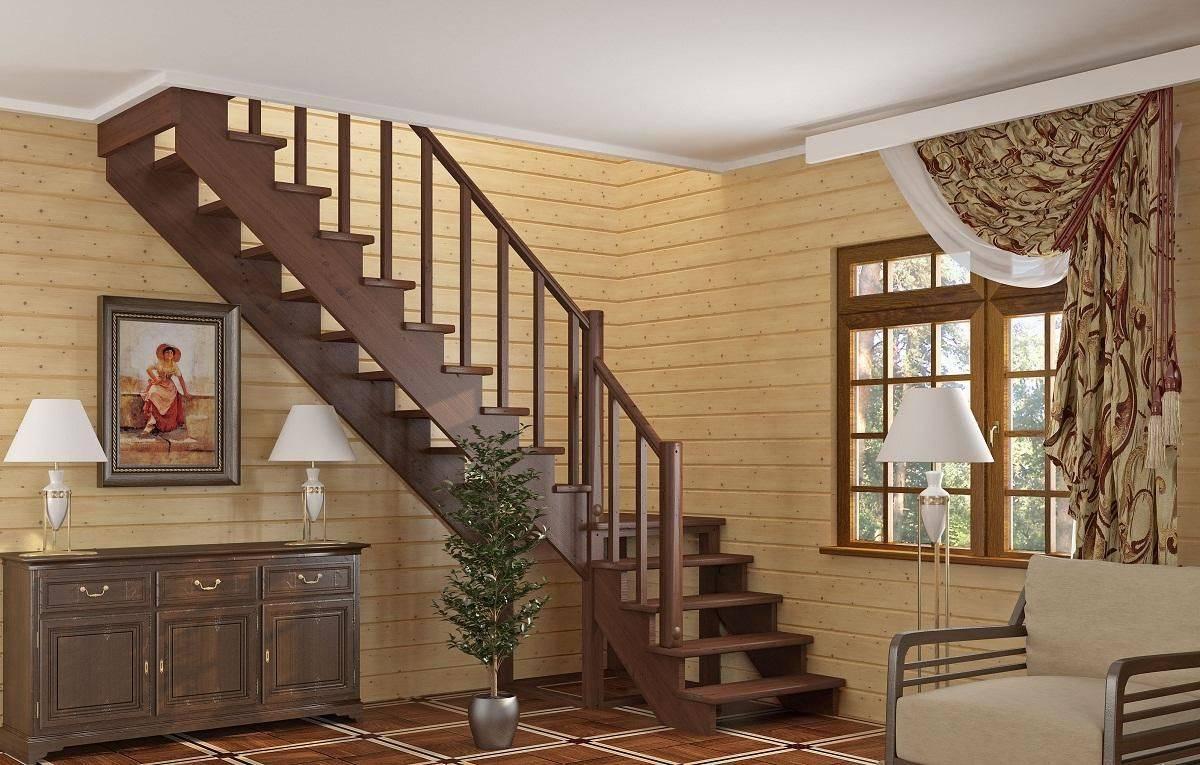 Лестница на второй этаж в частном доме своими руками - схема как сделать