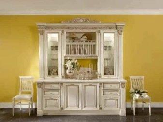 Сервант для посуды в гостиную (45 фото): угловые шкафы-серванты из дерева в стиле классика, современные серванты-витрины и другие варианты